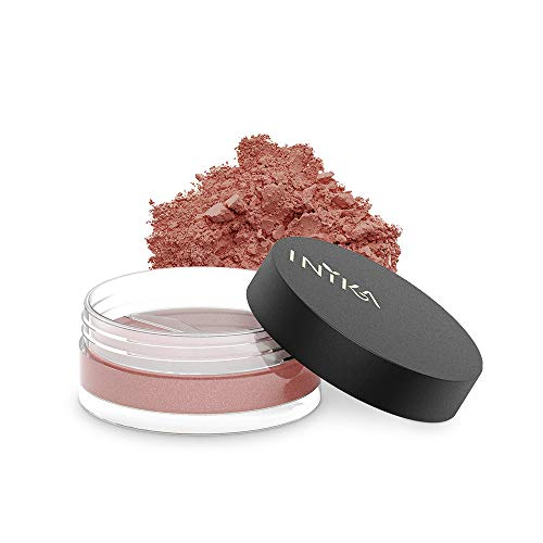 INIKA Loose Mineral Blush, All Natural Make-Up Powder, Flawless Coverage, Brightening, Long Lasting, Water Resistant, Oil Free, Vegan 3g (0.10 oz) (Red Apple)