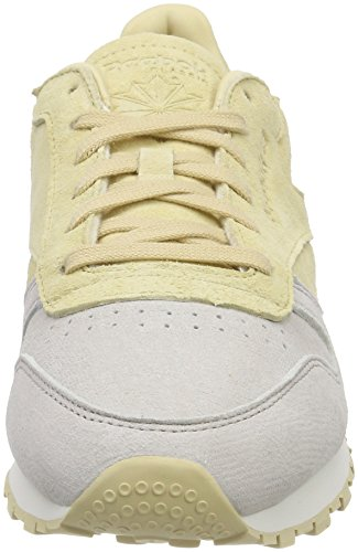 Classic Leather Straw Sneaker Chalk NBK Reebok Bianco Donna SgHdwyOq