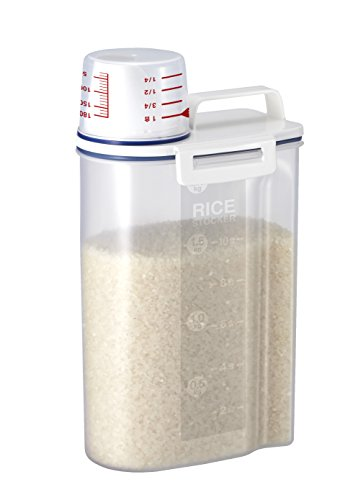 Asvel 7509 Rice Container Bin with Pour Spout Plastic Clear 2KG
