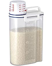 ASVEL 7509 Rice Storage Bin with Pour Spout and Measurement Cup