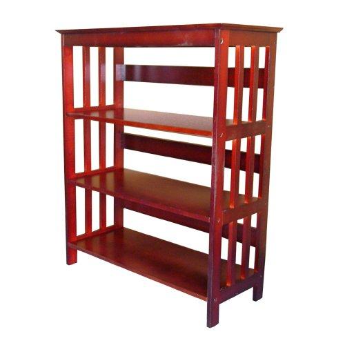 ORE International 3 Tier Bookshelves - Cherry - Barrister Wood Frame