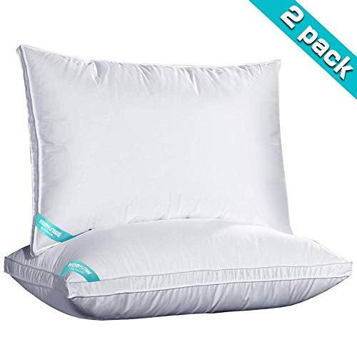 HOMYSNUG Bed Pillows, Pillows for Sleeping 2pack, Hypoallergenic with Fiber Fill, Adjustable Loft for Back and Side Sleeper, Queen Size 30 x 28
