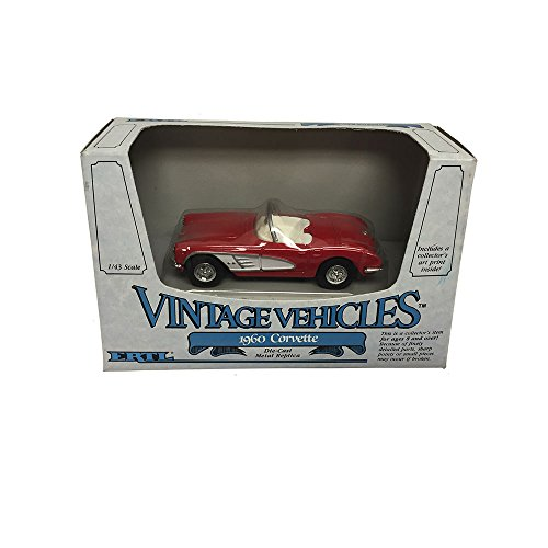 ERTL Vintage Vehicles 1960 Corvette Metal Replica Diecast Models Car 1:43 Scale -