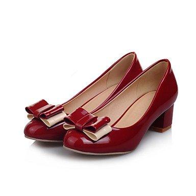 LvYuan Mujer-Tacón Bajo Tacón Robusto-Otro-Sandalias-Boda Oficina y Trabajo Vestido Informal Fiesta y Noche-Semicuero-Negro Rosa Rojo Pink