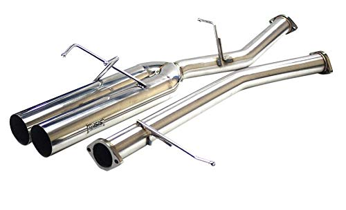 ISR Performance EP (Straight Pipes) Dual Tip Exhaust - Nissan 240sx 89-94 (S13) - 4