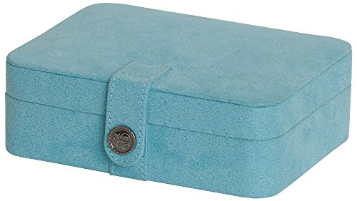 Mele & Co. Giana Plush Fabric Jewelry Box with Lift Out Tray - 7.38W x 2.38H in. - Fabric Jewelry Box
