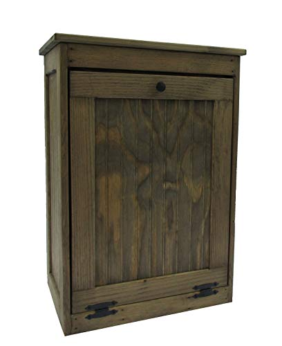 (Dicks Wood Creations Wooden Tilt-Out Trash Bin Solid Top)