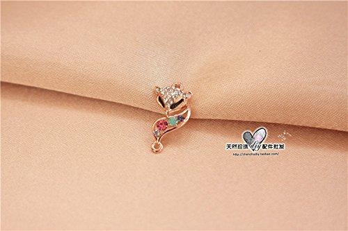 TKHNE Natural pearl necklace pendant bracelet crystal jewelry accessories agate DIY dead fox head cute little diamond necklace pendant authentic
