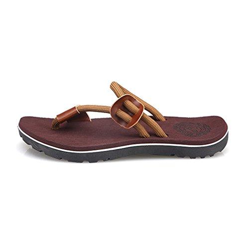 Rosso 45 Scarpe Nero Blu Donna e da Kaki Marrone da Summer Spiaggia Couple per 5 Use Flat Sandali Colori Sandals 36 Uomo Asiatico Casuale Scarpe Dual Heel Yying Marrone2 Spiaggia Scuro Low zwFAUBq