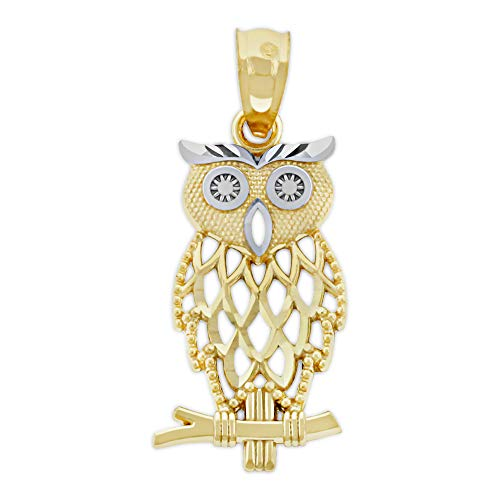 Charm America - Gold Owl Charm - 10 Karat Solid Gold