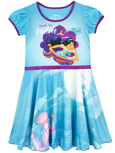 Disney Girls' Aladdin Nightdress Size 6 Blue]()