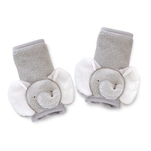 Carter's Plush Strap Covers, Animal Elephant, Grey/White