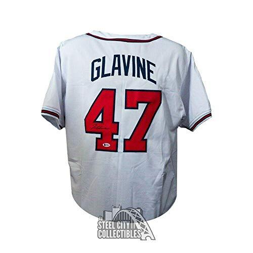 (Autographed Tom Glavine Jersey - Custom White BAS COA - Beckett Authentication - Autographed MLB Jerseys)