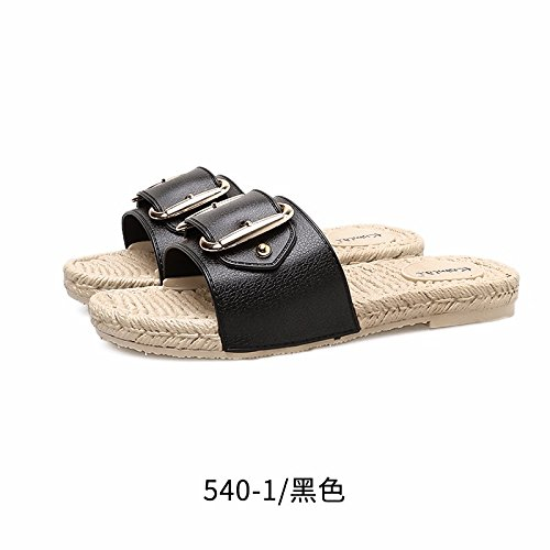 Women's XZ beach Black shoes Summer tide LIUXINDA C4dZcqPq