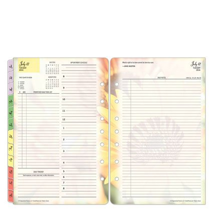 Classic Blooms Ring-bound Daily Planner - Jul 2016 - Jun 2017