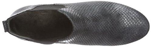 Caprice 25308 - botines chelsea de cuero mujer negro - Schwarz (BLACK SNAKE 017)