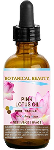 PINK LOTUS OIL Pure / Natural 1fl oz - 30ml. For Face, Body, and Hair.