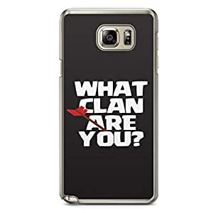 Clash of Clans Samsung Galaxy Note 5 Transparent Edge Case - What Clan Are You