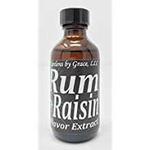 Organic Flavor Extract Rum Raisin | Use in Gourmet Snacks, Candy, Beverages, Baking, Ice Cream, Frosting, Syrup and More | GMO-Free, Vegan, Gluten-Free, 2 oz