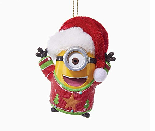 Kurt Adler 2 75 Minion W/Sound & Light Ornament