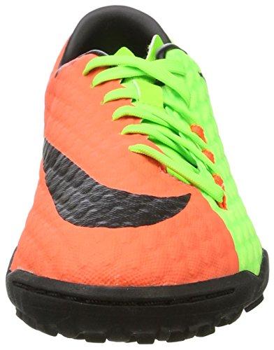 Nike Herren Hypervenomx Phelon III TF Fußballschuhe Grün (Electric Green/black-hyper Orange-volt)
