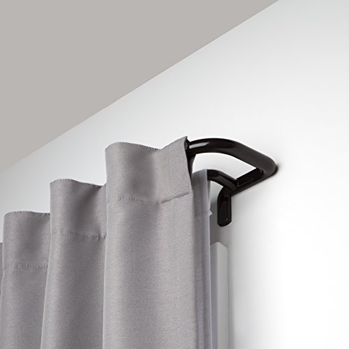 Umbra Twilight Double Rod Set - Wrap Around Design is Ideal for Blackout Room Darkening Curtains, 48 to 88 Inch, Auburn Bronze, 88-inch