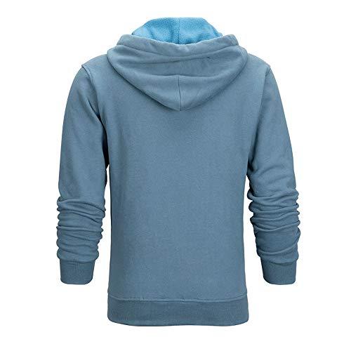 EXCELLENT ELITE SPANKER Cotton Fleece Casual Zip Up Hooded Sweatshirts for Men