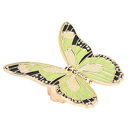 (Drawer Pull Handle Zinc Alloy Butterfly-Shape Kitchen Cupboard Knobs Wardrobe Bookcase Handles(Green/Night)