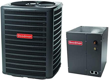 Goodman 3.0 Ton 13.0 Seer Air Conditioner System with Upflow//Downflow Evaporator Coil