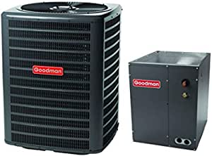 Goodman 3 Ton 14 Seer Air Conditioning System with Upflow//Downflow Evaporator Coil