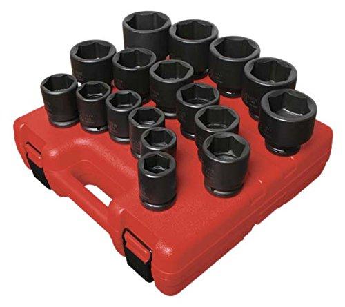 Sunex 4683 3/4-Inch Drive Heavy Duty SAE Impact Socket Set, 17-Piece (Impact Socket Set Sae)