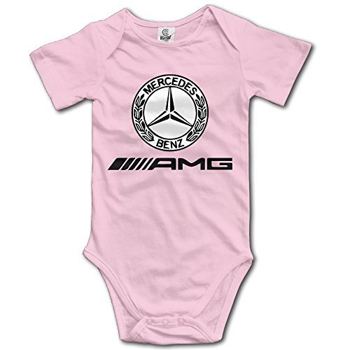 Funniest Outfits (HmkoLo Kid's Baby Mercedes AMG Logo Romper Jumpsuit Bodysuit Clothing Outfits Set 6-24 M Pink)