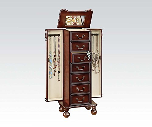 Brand New Lopez 16''x11''x40''H Cherry Finish Jewelry Armoire by Click 2 Go
