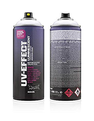 (Montana UV Effect Luminescent Transparent Varnish Spray Paint, 400ml)