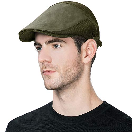 Newsboy Cap Men Winter Hat Hunting Ivy Flat Cap British Cab Drivers Gatsby Irish Cap Newspaper Paperboy Patchwork Guys Olive