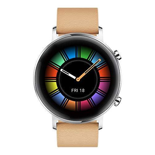 chollos oferta descuentos barato Huawei Watch GT 2 Classic Smartwatch con Caja de 42 mm Hasta 2 Semanas de Batería Pantalla Táctil AMOLED de 1 39 GPS 15 Modos Deportivos marrón Gravel Beige
