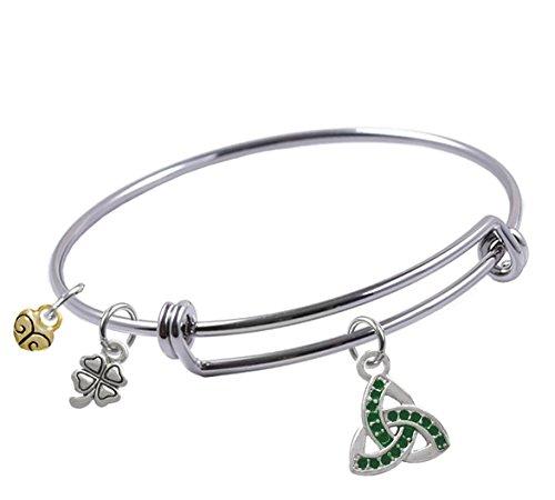 Expandable bracelet Triquetra Trinity Four Leaf product image