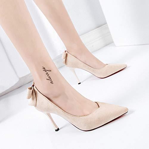 High punta singola con Scarpe Fashion tacco Jqdyl Bow a New spillo Heels a 65FH5nw0Z