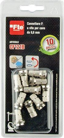 cf121b Blister 10 conectores f-vite cf121 Coax 5 mm