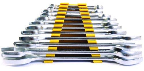 Stanley 70380E 12-Piece Matte Finish Double Open End Spanner Set