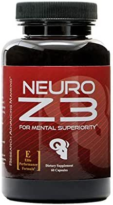 Superior Brain Performance Supplement | Neuro Z3 | Premium Nootropic by RAM ADVANTAGE | Designed to Support Memory, Enhance Focus, Boost Energy and Mental Clarity | 60 (ct)