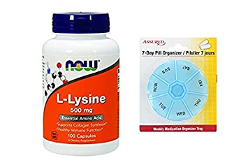 Amazon.com: Ahora, L-lisina 500 mg, 100 cápsulas: Health & Personal Care