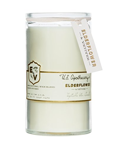 US Apothecary 16 Oz Vegetable Wax Candle - Elderflower and - Candle Apothecary Oz 16