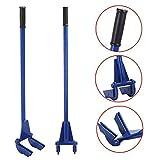 Yaheetech Pallet Buster Tool Pallet Pry Bar Gear Pry Bar Rack - Pallet Breaker Deck Wrecker Demolition Crowbar 44in Blue
