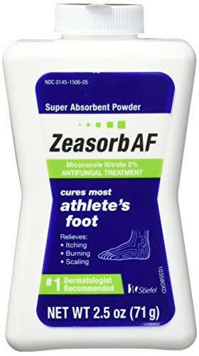 Zeasorb Antifungal Treatment Powder, Athletes Foot, 2.5oz (Pack of 2)
