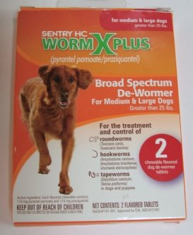 Dog Supplies Worm X Plus Medium and Large Dog 2 Tablets, My Pet Supplies