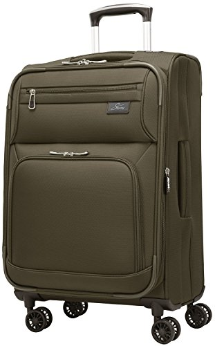 Inch 4 Wheel Expandable Carry On, Forest Green ()