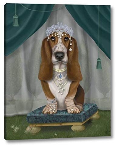 Basset Hound and Tiara by Fab Funky - 9
