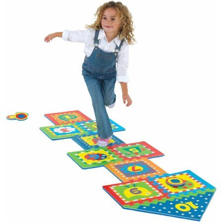 ALEX Toys Active Play Colorful foam Hopscotch with Snap Together Boards