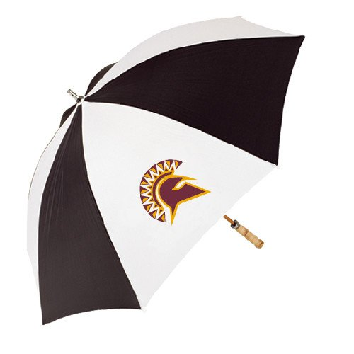 St Thomas Aquinas 62 Inch Black/White Umbrella 'Official Logo' by CollegeFanGear